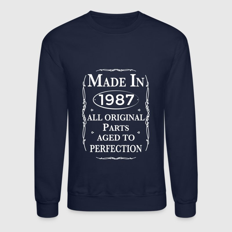 made in 1987 birthday - Crewneck Sweatshirt