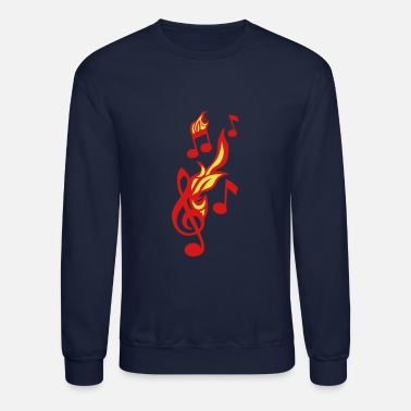 Note note flame music key ground fire music 1 - Crewneck Sweatshirt