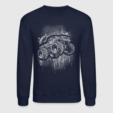 Monster 4x4 Truck grungy - Crewneck Sweatshirt