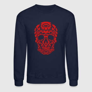 tribal skull dead head death in 1305 - Crewneck Sweatshirt
