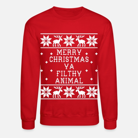 Christmas Hoodies & Sweatshirts - Merry Christmas - Ugly Sweatshirt - Unisex Crewneck Sweatshirt red