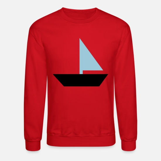 Boat Hoodies & Sweatshirts - sailboat - boat - Unisex Crewneck Sweatshirt red