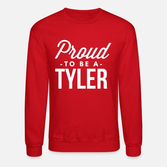Birthday Present Hoodies & Sweatshirts - Proud to be a Tyler - Unisex Crewneck Sweatshirt red
