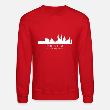 Prague Praha Prague Czech Republic Skyline - Crewneck Sweatshirt