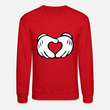 Hands Mickey Mouse Hand Heart - Unisex Crewneck Sweatshirt