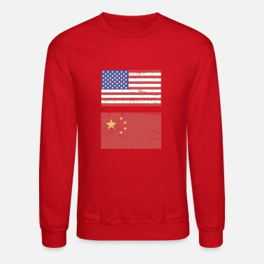State Flag United States Flag & China Flag - Crewneck Sweatshirt