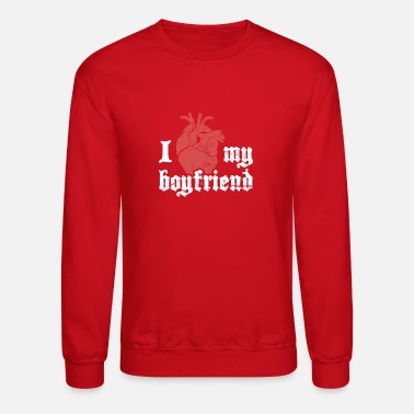 Emo I Love My Boyfriend | Cute Emo Design - Unisex Crewneck Sweatshirt