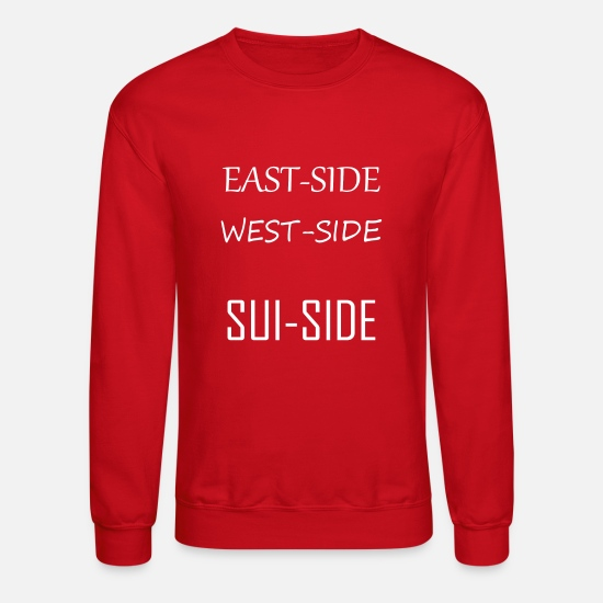 Depressed Hoodies & Sweatshirts - Suicide - Unisex Crewneck Sweatshirt red