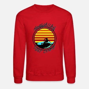 90s Surfing Hawaiian Surf Club - Unisex Crewneck Sweatshirt