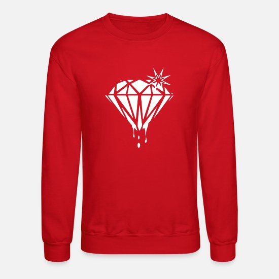 Diamond Hoodies & Sweatshirts - DIAMOND - Unisex Crewneck Sweatshirt red