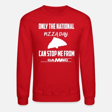 National Games National Pizza Day Gaming Gamer Holiday - Unisex Crewneck Sweatshirt