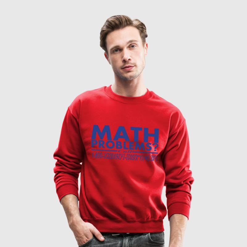 Math Problems? Call Hotline Vector Design - Crewneck Sweatshirt