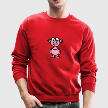 pig cartoon character funny 1110 - Crewneck Sweatshirt