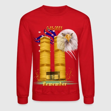 Gold Twin Towers, Eagle n Flag - Crewneck Sweatshirt