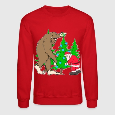 Bigfoot, Santa Christmas - Crewneck Sweatshirt