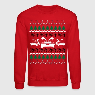 Christmas Back to the Future Ugly Christmas Sweater - Crewneck Sweatshirt