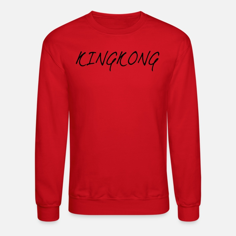 Gorilla Hoodies & Sweatshirts - KINGKONG - Unisex Crewneck Sweatshirt red