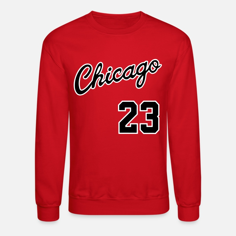 Chicago Hoodies & Sweatshirts - Chicago 23 Script Shirt - Unisex Crewneck Sweatshirt red