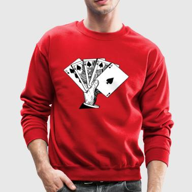 Royal Flush Vintage Illustration - Crewneck Sweatshirt