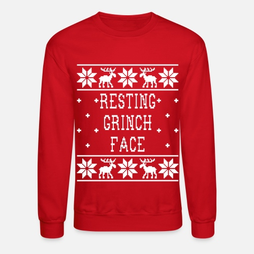 d458ade5dfc ... Resting Grinch Face - Ugly Christmas Sweatshirt - Unisex Crewneck  Sweatshirt. Do you want to edit the design