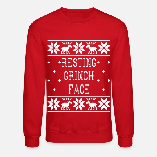 26b68c29c7df23 Grinch Hoodies & Sweatshirts - Resting Grinch Face - Ugly Christmas  Sweatshirt - Unisex Crewneck Sweatshirt