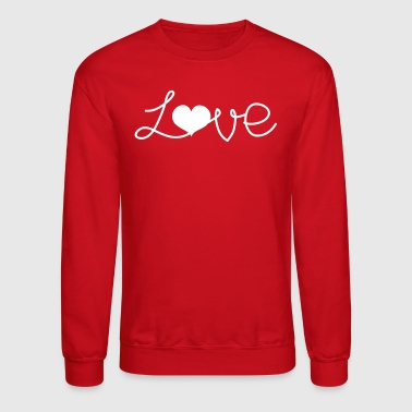 Written LOVE written with a love heart  - Crewneck Sweatshirt