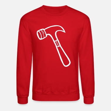 Brick-layer hammer plain shape - Crewneck Sweatshirt