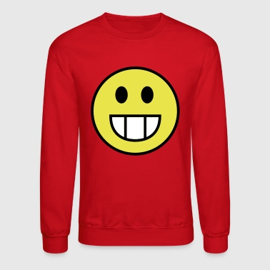 Smiley face grin - Crewneck Sweatshirt