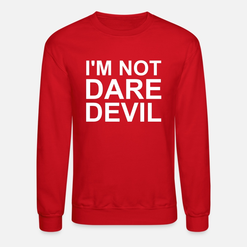 Daredevil Hoodies & Sweatshirts - I'm Not Daredevil - Unisex Crewneck Sweatshirt red
