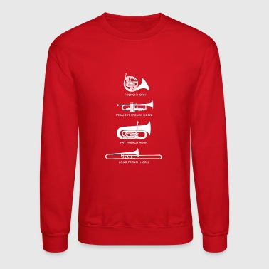 Funny Types Of French Horn - Crewneck Sweatshirt