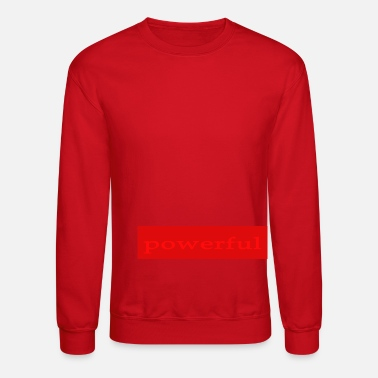 Emoto Hidden Messages Powerful (Red) - Crewneck Sweatshirt