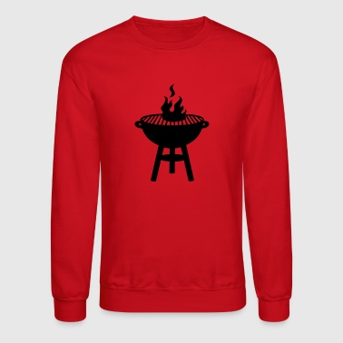 grill with fire - Crewneck Sweatshirt