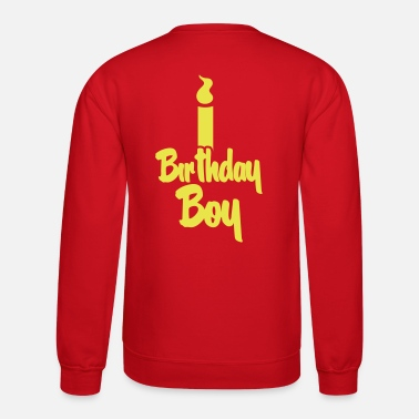 Pretty Boy birthday boy candle - Crewneck Sweatshirt