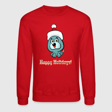 Cute Puppy Santa - Crewneck Sweatshirt