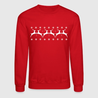 White Stags and Snow Flakes - Crewneck Sweatshirt
