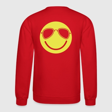 FUNKY cool smiley with aviator glasses - Crewneck Sweatshirt