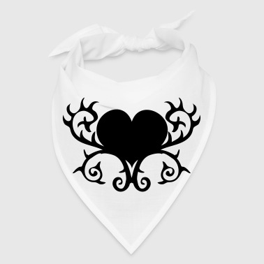 GOTHIC heart with thorns shape - Bandana