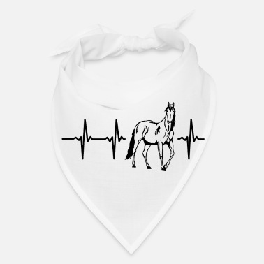 Horseshoe My heart beats for horses - Bandana