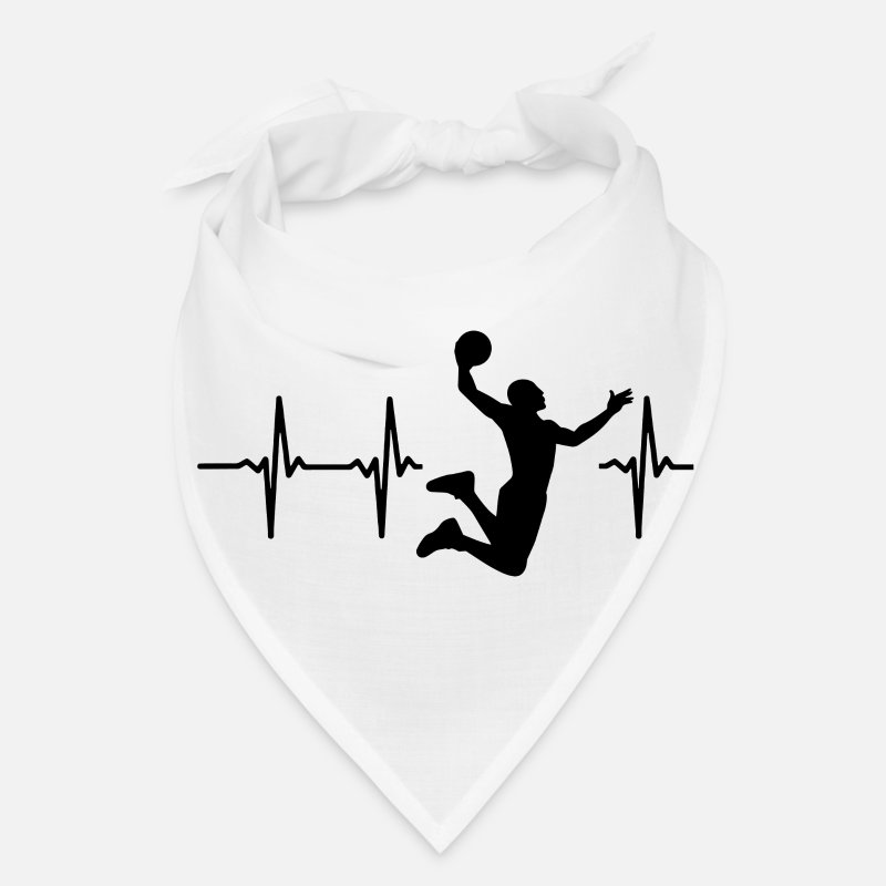 Ball Caps - My heart beats for basketball - Bandana white