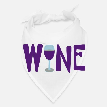 Text Wine Glass Text - Bandana