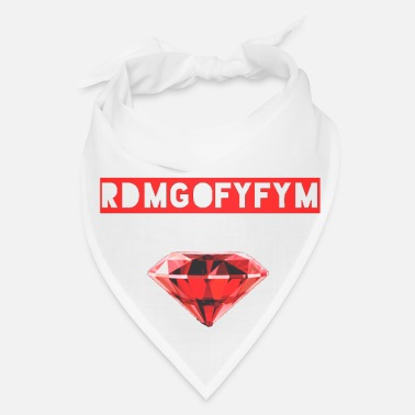 Red Red Diamond Music Group Slogan Bandana - Bandana