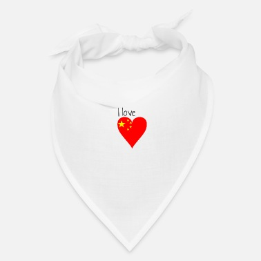 My Favorite Country I love china, gift idea, chinese flag - Bandana
