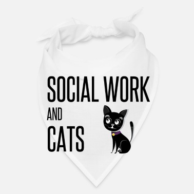 Social Social Work And Cats Lover Dad Mom Owner Worker - Bandana