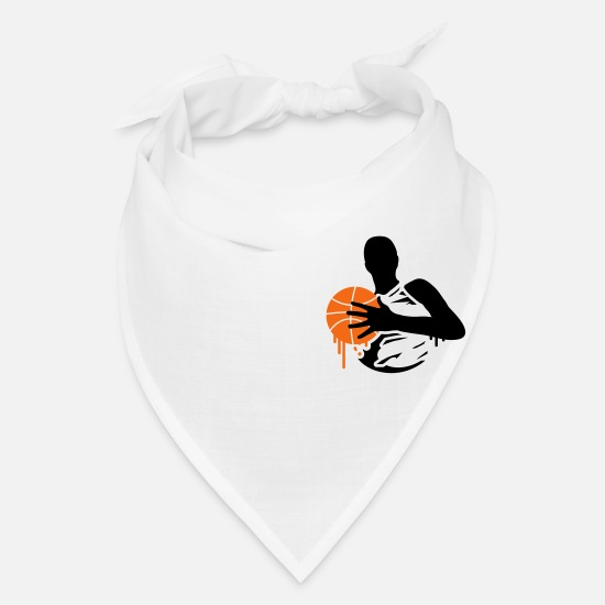 Fight Caps - basketball player with a basketball - Bandana white