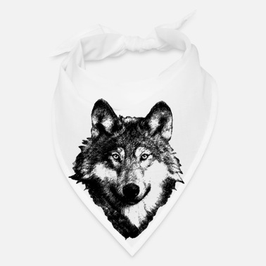 American Indian Wolf Art Design - Bandana