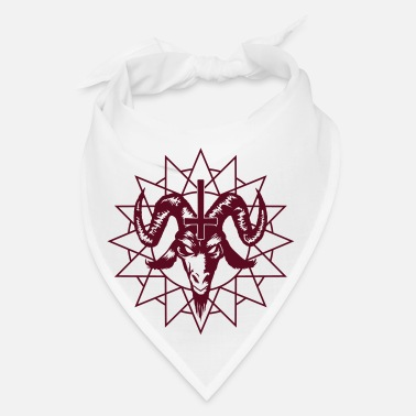 Chaos Satanic Goat Head with Chaos Star - Bandana