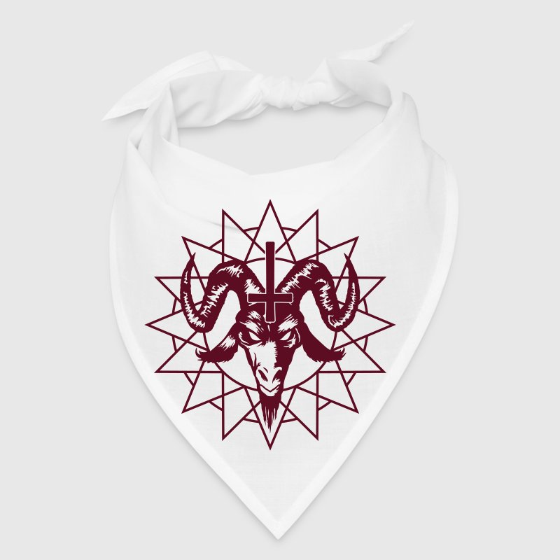 Satanic Goat Head with Chaos Star - Bandana