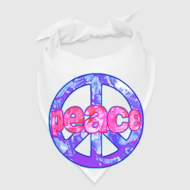wordtease batik peace peacesign  - Bandana