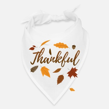Pregnant Thankful Autumn Thanksgiving Day Gift Fall Love - Bandana