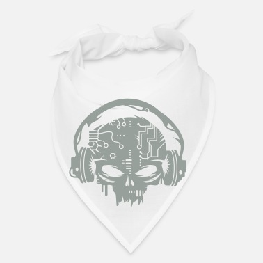 Cyber cyber Skull with headphones - Bandana